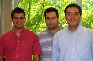From left: Deniz Karakoyunlu, Prof. Berk Sunar, Selçuk Baktir