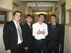 First Place Team of Ramsey Abouzahra, Cengiz Karakoyunlu, Yuan Shi, and Billy Zhong