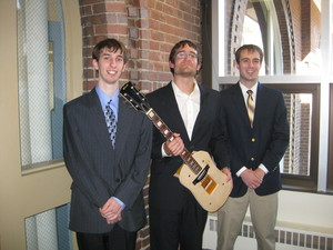 First Place Winners with their project - Digitar, Inc., A Technological Guitar Teaching Instrument