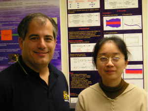 Professor Clancy and research assistant Hongfang Xia