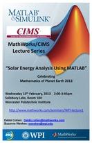 MathWorks/CIMS seminar poster