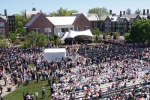 The ceremony was held on the WPI Quadrangle.