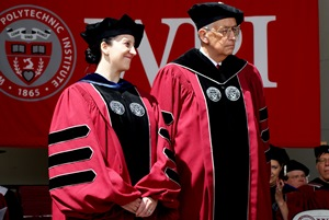 Professor Camesano with WPI Chairman Warner Fletcher