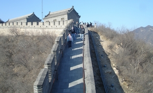 A team of WPI students experience the Great Wall of China.