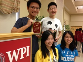 The Hotchkiss School of Lakeville, Conn., took first place in the 26th Annual Math Meet at WPI.