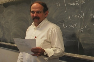 WPI mathematics professor John Goulet serves as director of the Math Meet Committee.