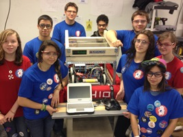 A team from Mahar Regional High School in Orange, Mass., participated in last year's robotics event.