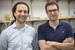 Cagdas Onal, left, and Dmitry Berenson are teaming up on soft robotics research at WPI