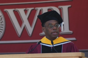 Roger Ferguson Jr., president and CEO of TIAA-CREF, delivered the Commencement address.