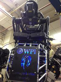 Meet WARNER, WPI's tall, dark and humanoid robot.