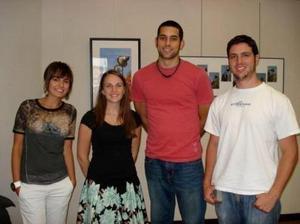The Venice Project Center team: Debora Afezolli, Jaclyn Hepworth, Andrew J. Kazanovicz, and Benjamin Allen.