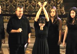 Delorey, left, during a 2009 production of Witchwife by WPI students in London.