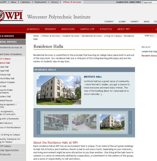 CMS Portal: Feature Gallery