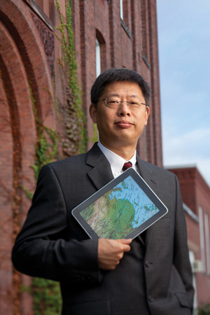 Joe Zhu, professor of operations and industrial engineering in WPI's School of Business, collaborates with colleagues in China and elsewhere around the world on his research on data envelopment analysis.